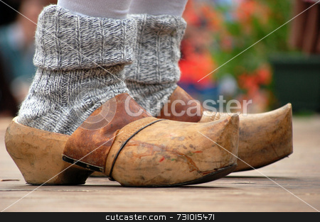 Wooden clogs stock photo, Typical italian folklore clogs by Massimiliano Leban