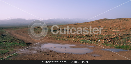 High Atlas Panorama In Morocco stock photo, High Atlas Mountain Range Panorama in Morocco by Jan-Peter Von Hunnius