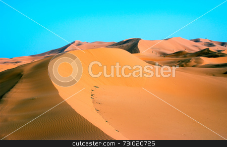 Sand Dune At Erg Chebbi In Morocco stock photo, Sand Dune at Erg Chebbi in Morocco by Jan-Peter Von Hunnius