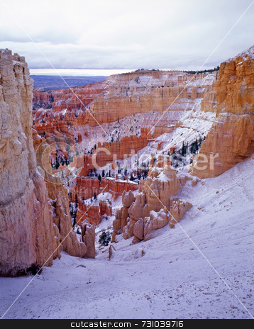 Bryce Canyon 1 stock photo, Snow on the hoodoos in Bryce Canyon National Park, Utah. by Mike Norton