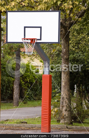 Backboard stock photo, Close-up of basketball backboard in a park by Massimiliano Leban