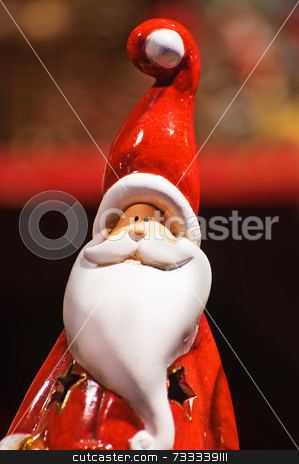 Santa Claus statuette stock photo, Ceramics statuette  of Santa Claus - Christmas theme by Massimiliano Leban