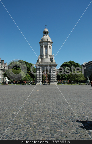 Trinity College Campus stock photo, Scene of Trinity College Campus Dublin on a beautiful summer's day by Simon Jeacle