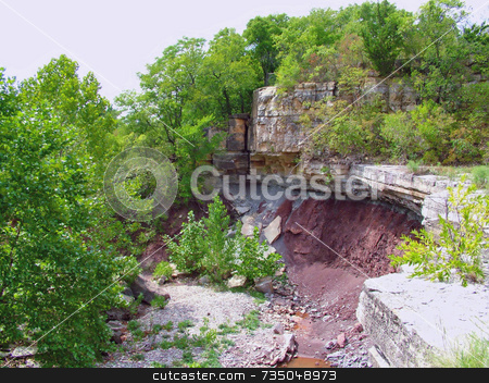 Cliff by a dam stock photo,  by Michelle Bergkamp