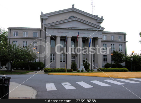 County courthouse stock photo, An  old county courthouse in rural North Carolina by Tim Markley
