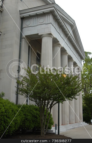 County courthouse stock photo, An  old county courthouse in rural North Carolina seen up close by Tim Markley