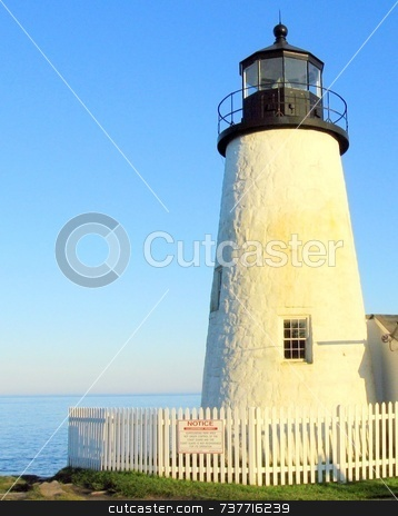Pemaquid Lighthouse, Maine stock photo, Pemaquid Lighthouse, Maine by Tom and Beth Pulsipher