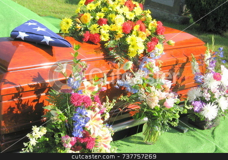 Flowers for a Veteran stock photo, Flowers for a Veteran by Tom and Beth Pulsipher