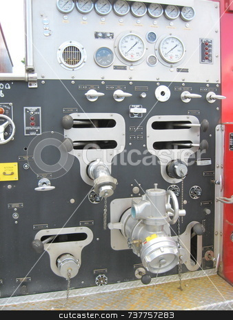 Fire Truck Gauges stock photo,  by Tom and Beth Pulsipher