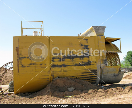 Construction for Water Control stock photo,  by Marlene Cabais