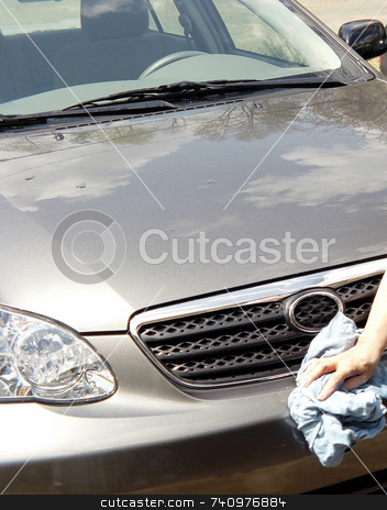 Car Wash stock photo, Wiping car down after a wash by Jack Schiffer