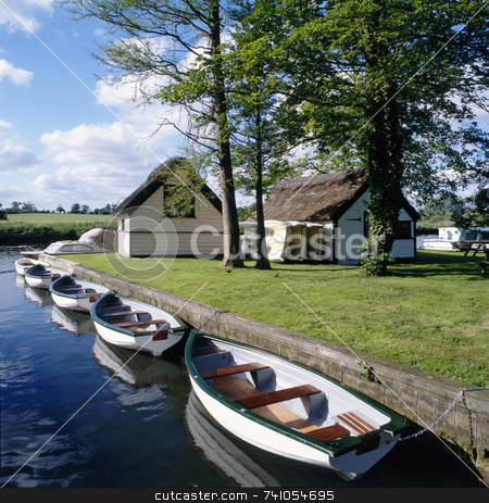 Boating stock photo, Boating on the river Thames Oxfordshire, UK by Paul Phillips