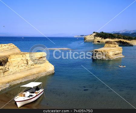 Sidari stock photo, The interesting coastline of Sidari, on the greek island of Corfu by Paul Phillips
