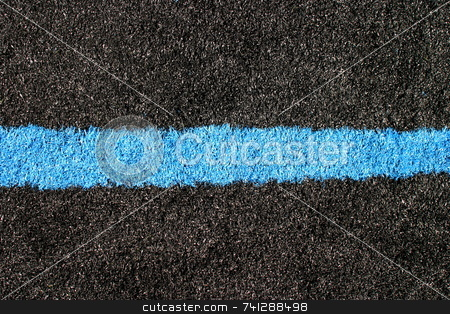 Black Blue Lawn stock photo, Black and blue lawn on a sports field. by Henrik Lehnerer