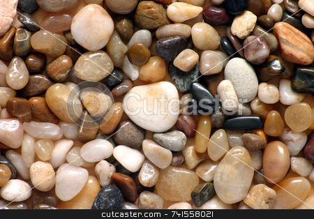 Polished pebbles close up stock photo, Polished pebbles close up by Stephen Rees