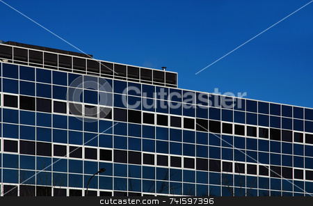 Office block stock photo, Square windows of a city office block by Paul Phillips