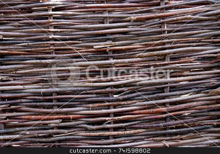 Woven stock photo, Woven fencing panels by Paul Phillips