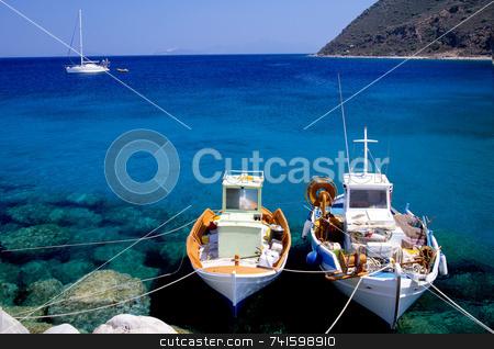 Gone Fishing stock photo, Small fishing boats on the Greek island of Corfu by Paul Phillips