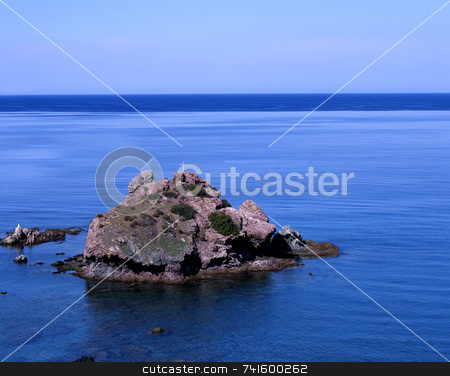 St George's Island stock photo, St George's Island, near the baths of Aphrodite, Cyprus by Paul Phillips