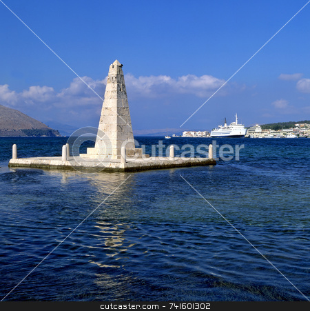 Obelisk stock photo, The obelisk monument to the British rule of Kefalonia, Greece, from 1809 to 1864. by Paul Phillips