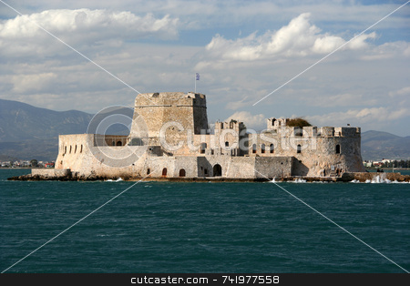 Island Castle stock photo, The castle island of Bourtzi, in Nafplio (Greece) by Georgios Alexandris