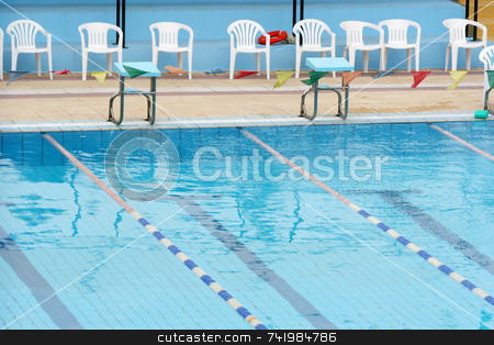 Swimming Pool Detail stock photo, A small part of a swimming pool by Georgios Alexandris