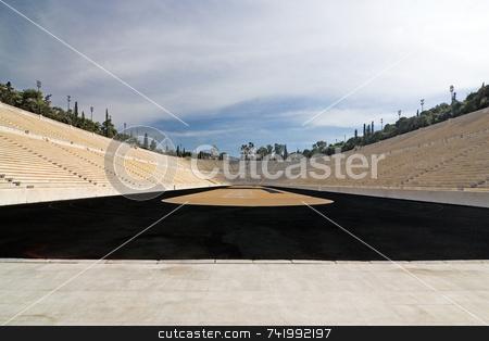 Panathinaiko Stadium stock photo, A wide-angle view of the ancient Panathinaiko Stadium, in Athens, Greece by Georgios Alexandris