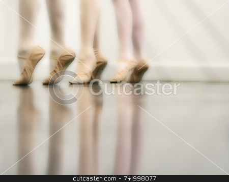 Ballet Dance - Dreamy version stock photo, Ballet Dancer Feet - Dreamy version (orton imaging technique) by Mitch Aunger