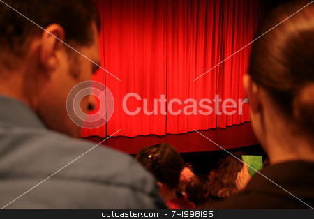 Nutcracker stock photo, A couple waiting for a performance to begin - are they on a date? by Mitch Aunger