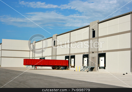 Warehouse loading dock stock photo, The loading dock at a large warehouse facility by Mitch Aunger