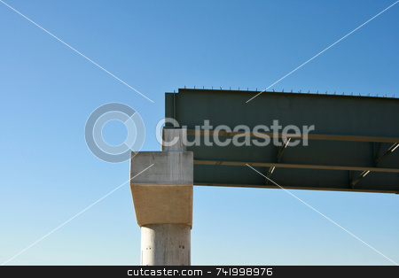 New Highway Construction Support Pillar stock photo, Highway Construction for new bridges by Mitch Aunger