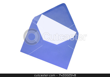 Blank white paper in a colorful envelope. stock photo, Blank white paper in a colorful envelope. by Stephen Rees