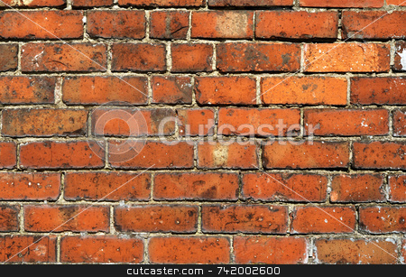 Old red brick wall close up. stock photo, Old red brick wall close up. by Stephen Rees