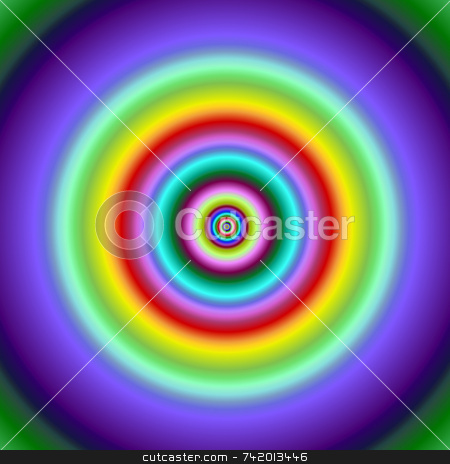 Colorful fractal circles target image. stock photo, Colorful fractal circles target image. by Stephen Rees