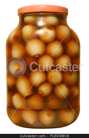 A large gar of pickled onions stock photo, A large gar of pickled onions by Stephen Rees
