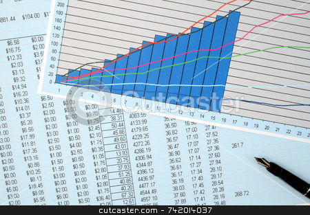 Reviewing  the financial results. stock photo, Reviewing  the financial results. by Stephen Rees