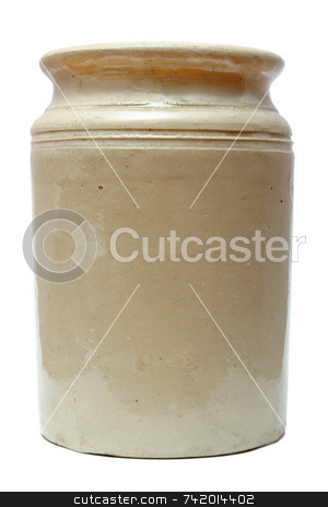 Old storage jar. stock photo, Old storage jar. by Stephen Rees