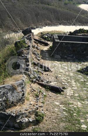 War Fort stock photo, A war fort in Fernando de Noronha - Brazil by Daniel Wiedemann