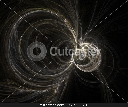 Fractal 10 stock photo, Beautiful flows of different color build this fractal by Henrik Lehnerer