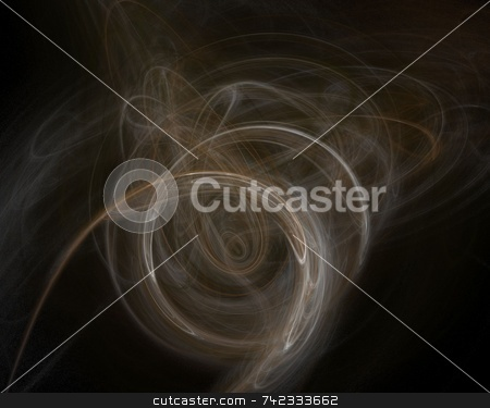 Fractal 7 stock photo, Beautiful flows of different color build this fractal by Henrik Lehnerer