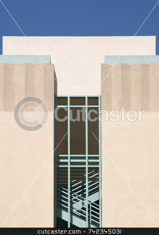 Stairs Tower stock photo, Staircase at a public parking structure by Henrik Lehnerer
