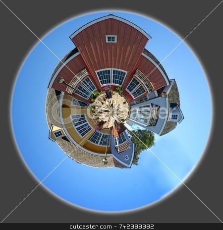 Oxnard Harbor Houses stock photo, Panoramic 360 degree shot of the Oxnard harbor houses by Henrik Lehnerer