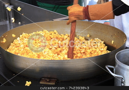 Stirring popcorn stock photo, Popcorn corn ready to eat by Jack Schiffer