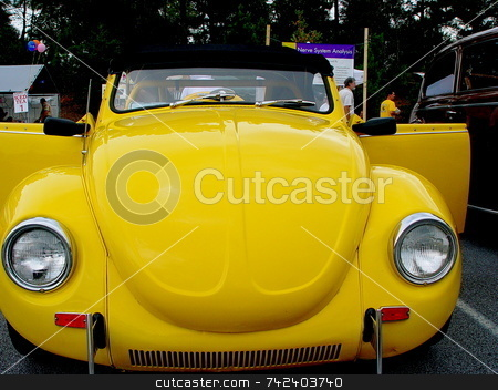 Superbeetle stock photo, Restored 1973 Volkswagen Superbeetle at a car show in Smyrna Georgia USA by Jack Schiffer