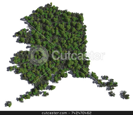 Alaska in Trees stock photo,  by Allan Tooley