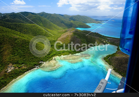 Aerial Beach View stock photo, Aerial Beach View by LW Photography