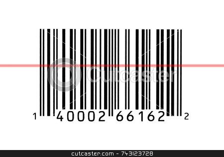 Macro photograph of a bar code stock photo, Macro photograph of a bar code being read by Vince Clements