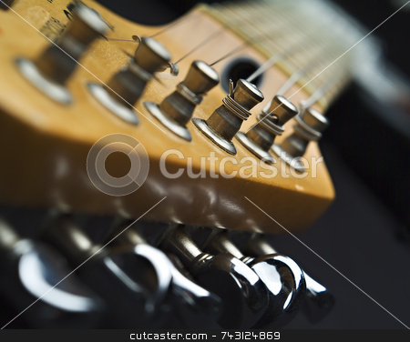 Close up of guitar machine head stock photo, Close up of guitar machine head by Vince Clements