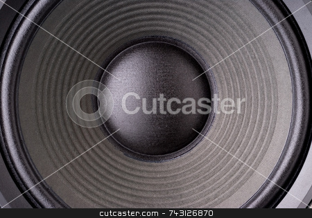 Closeup of a loudspeaker stock photo, Closeup of a loudspeaker by Vince Clements