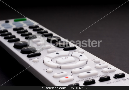 TV Remote stock photo, Macro of a digital cable TV remote by Vince Clements